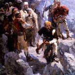 Bajram Curri në shpellën e_Dragobisë, nga Guri_Madhi (1956)