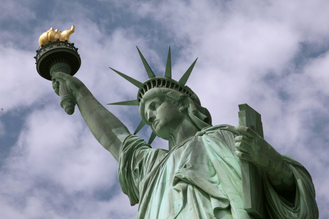 The question of who served as the model for the Statue of Liberty's face and expression remains unanswered. (AP)
