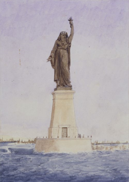Statue of Liberty creator Frédéric Auguste Bartholdi original design for the mouth of the Suez Canal in Egypt.
