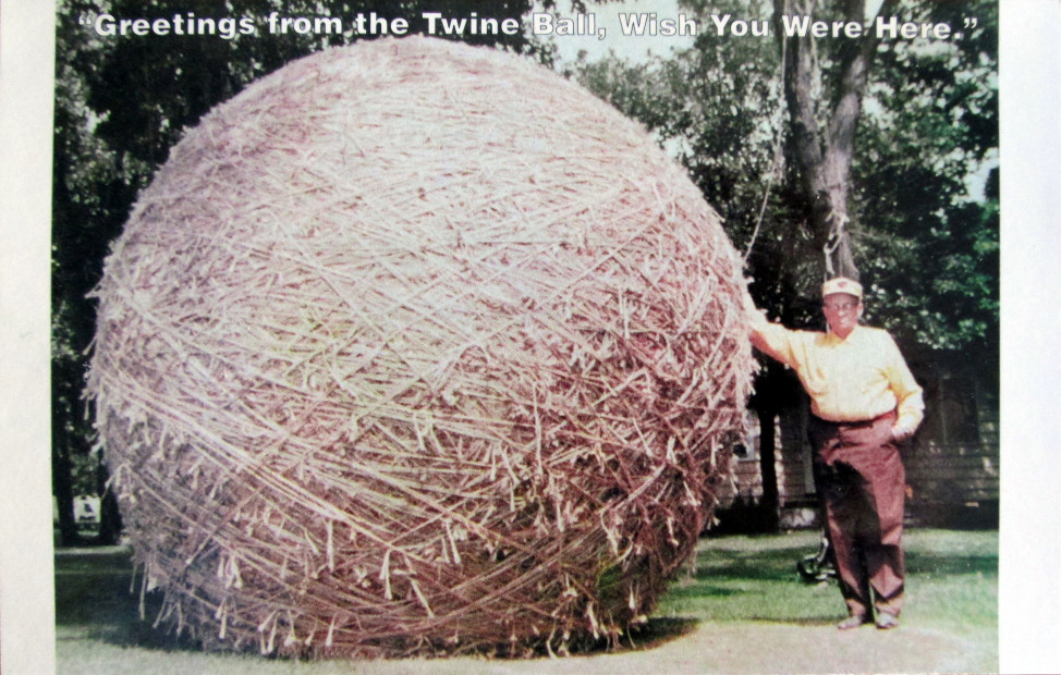 A postcard from the largest ball of twine in Minnesota. (Flickr/ Brian Herzog)