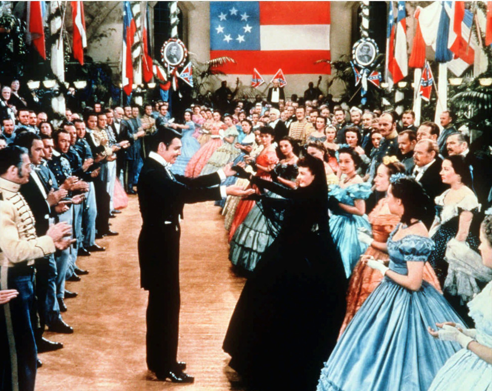 "Rhett Butler and Scarlett O'Hara dance in this scene from the movie ""Gone With the Wind."" (AP Photo/New Line Cinema, File)"