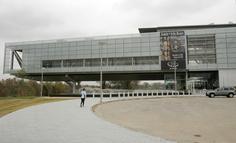 The Clinton Presidential Library in Little Rock, Arkansas. (AP Photo)