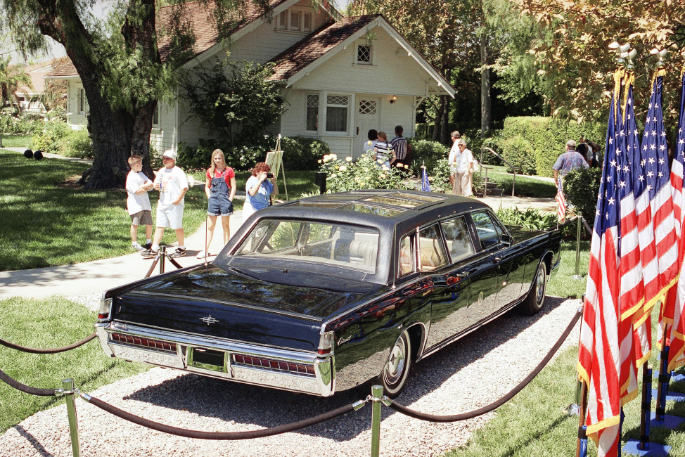 A former presidential limousine at the Richard Nixon Library & Birthplace in Yorba Linda, California. (AP Photo)