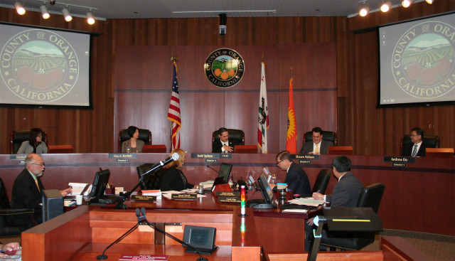 Asian Americans now hold a majority on the 5-member Orange County Board of Supervisors. (Photo Courtesy of the County of Orange)