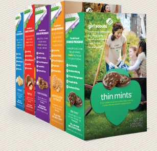 Boxes of Girl Scout cookies. (Girl Scouts of USA)