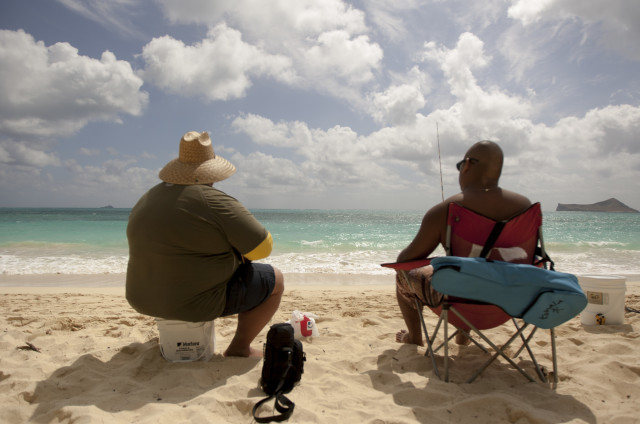 Waimanalao Bay Beach Park in Waimanalo, Hawaii, May 19, 2015. Hawaii is the only state where fewer than one in five residents is obese. (AP Photo)