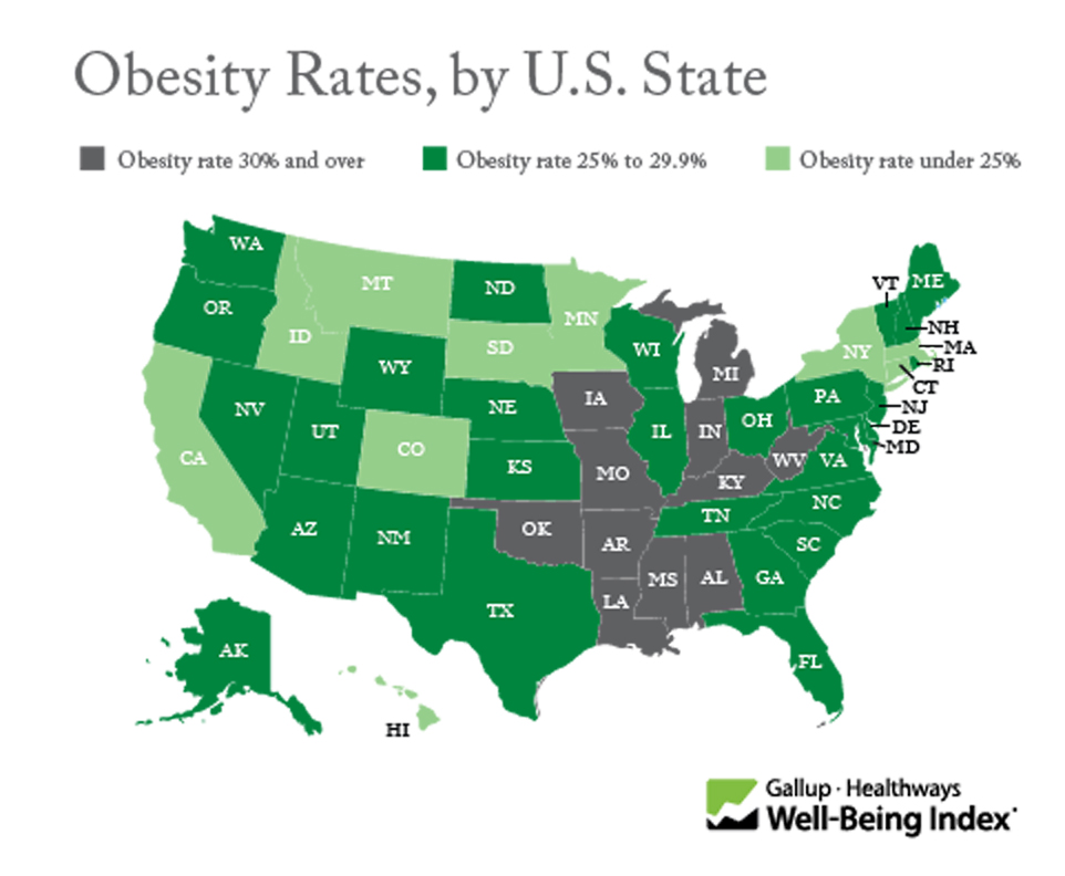 Obesity Rates by U.S