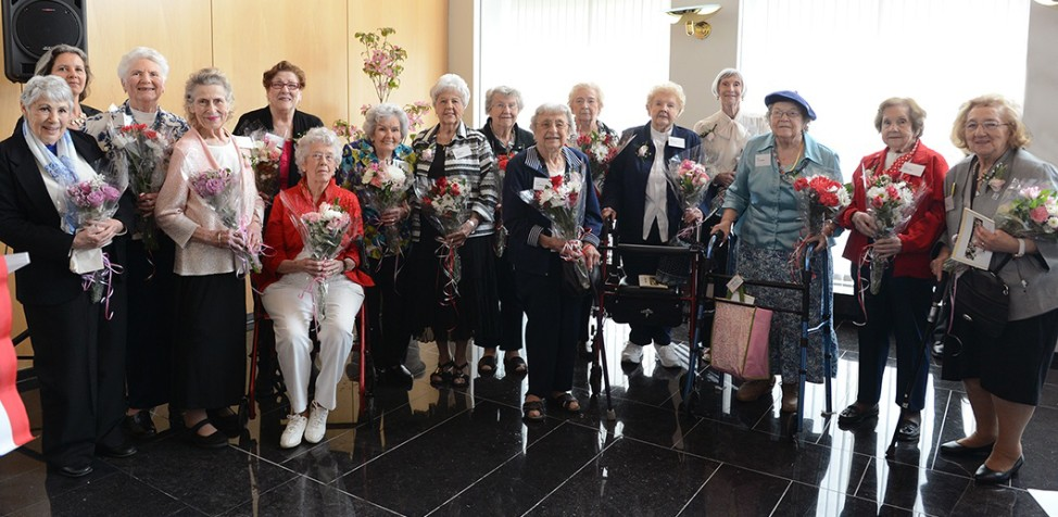"The Netherlands Embassy in Washington, D.C., recognized 14 women who were known as ""Rosie the Riveters"" during World War II. (Photo by Sun Vega courtesy of the Royal Netherlands Embassy)"