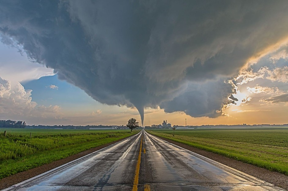 "A Tornado Crosses the Path, Reinbeck, Iowa. Third place, ""Professional Submission"" (Brad Goddard, courtesy NOAA)"