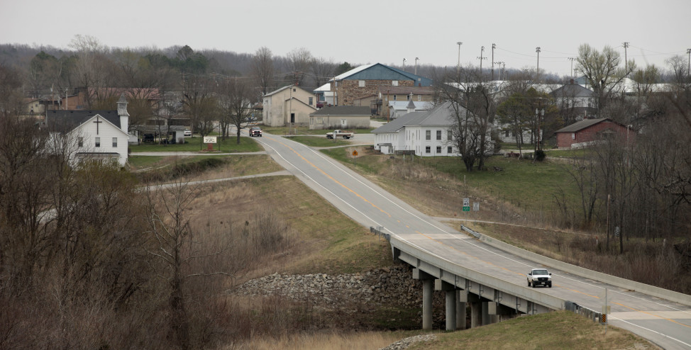Texas County, Missouri. near the town of Plato (shown here) is the population center of the United States, according to the 2010 census. (AP Photo)