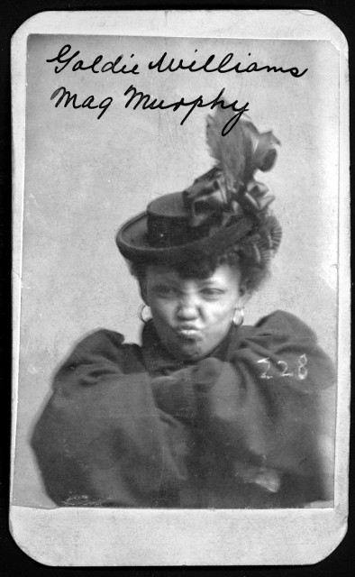 Goldie Williams was arrested for vagrancy on Jan. 29, 1898. Curator Karen Keehr keeps this photo on her office wall. (Nebraska State Historical Society)