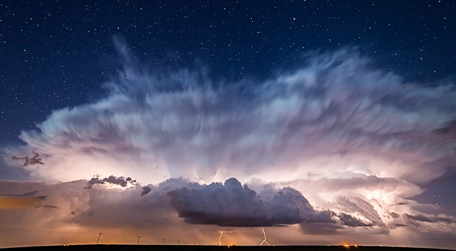 "Stars Behind the Storm. First place, ""Professional Submission"" by Brad Goddard. (Courtesy NOAA)"