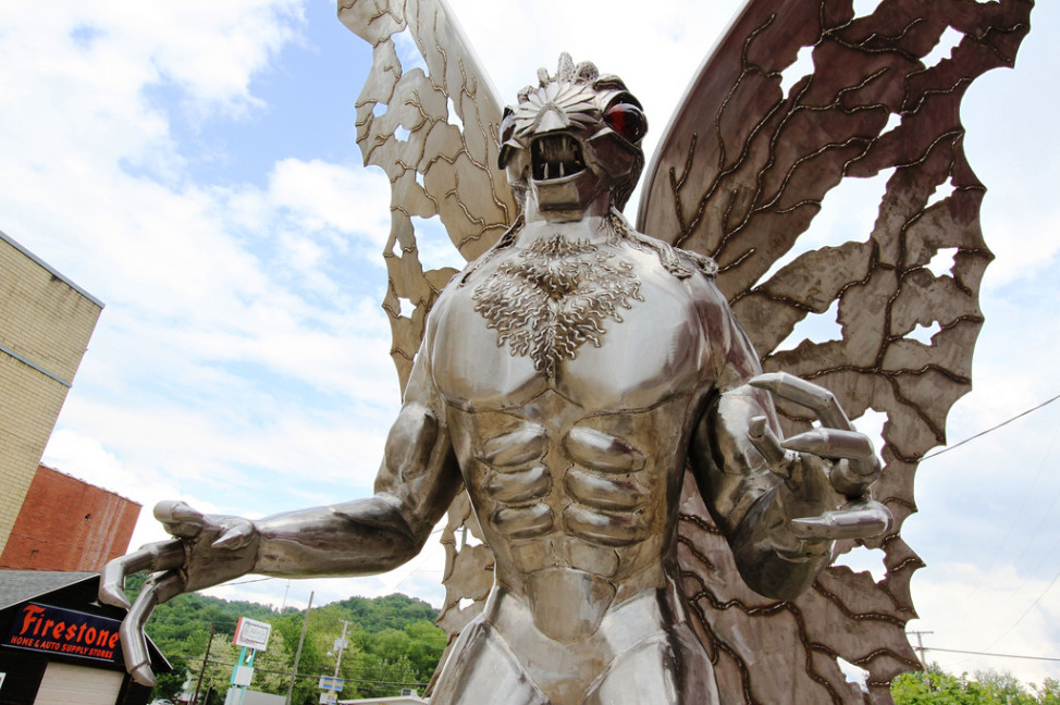 Mothman statue, Point Pleasant, West Virginia (Photo by Flickr user OZinOH via Creative Commons license)