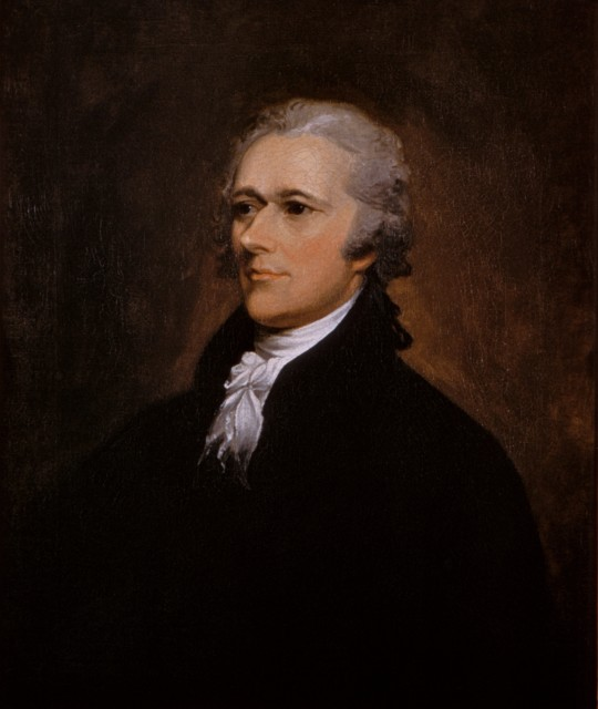 "Portrait of Alexander Hamilton by John Trumbull, 1806 (""Alexander Hamilton portrait by John Trumbull 1806"" by John Trumbull - Washington University Law School. (Licensed under Public Domain via Wikimedia Commons)"