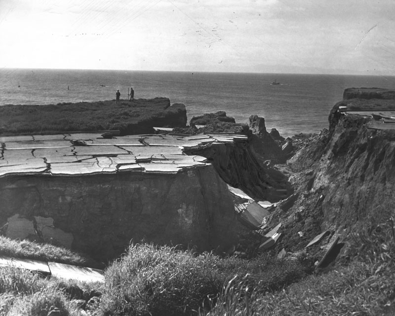 """Sunken City."" Photo dated: March 3, 1941. (Photo courtesy the Los Angeles Public Library)"