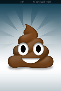 The smiling poop emoji is used more in Vermont than in any other state, according to SwiftKey. (Graphic courtesy Flickr user Rob Marquardt via Creative Commons license)