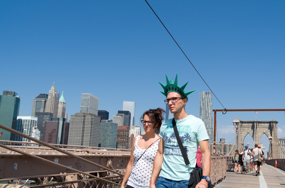 New York City tourists, July 17, 2014. (Photo by Flickr user Phil Roeder via Creative Commons license)