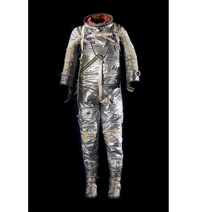 "Alan Shepard, one of the original ""Mercury 7,"" wore this suit on the first flight of an American astronaut in 1961."