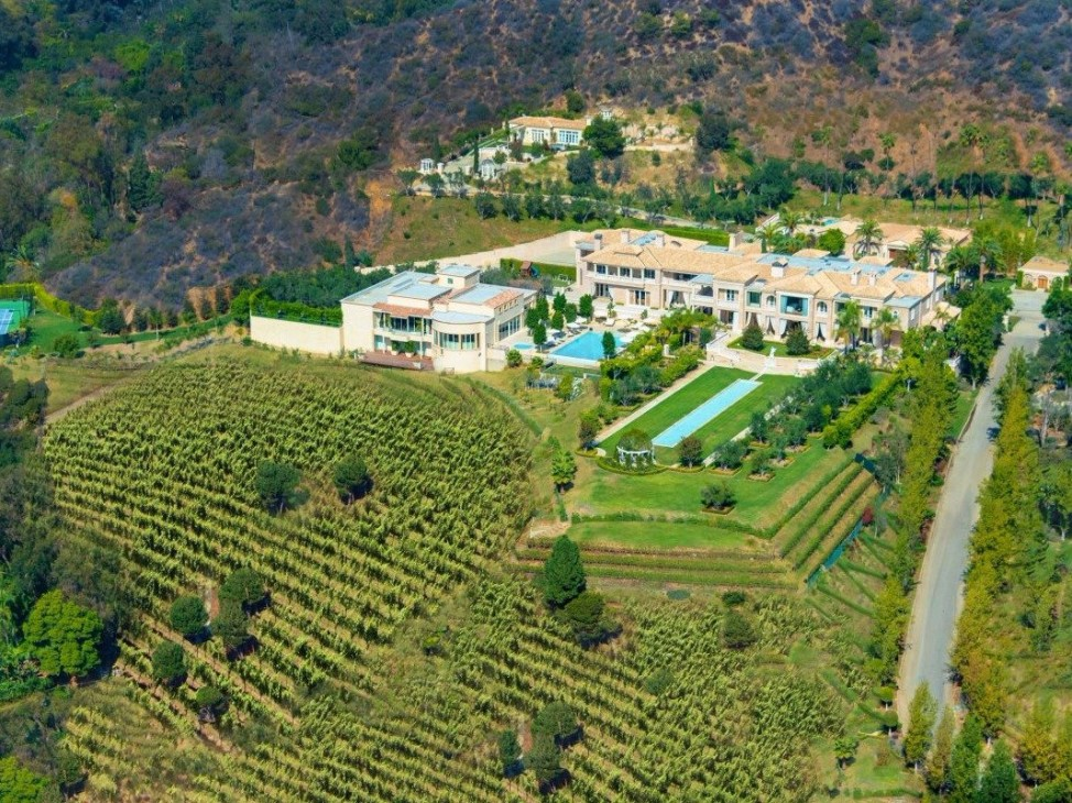 "At $149 million, ""Palazzo di Amore"" in Beverly Hills, California, is the most expensive house for sale in the United States. (Photo by Marc Angeles for Coldwell Banker)"