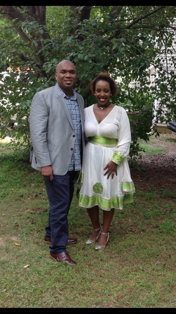 Refugee, and new American citizen, Feven Fessehaye, with her fiancé Rome Smith. (Photo courtesy Feven Fessehaya)