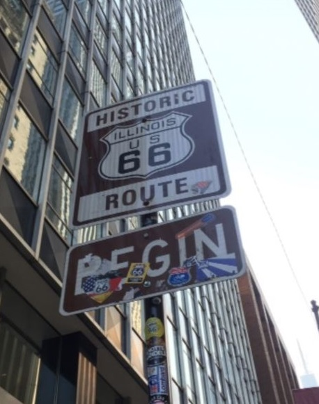 Route 66-begin sign