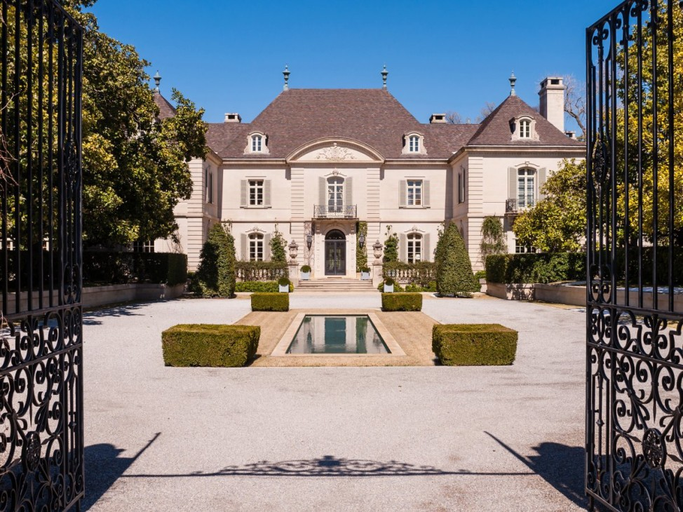 The Hicks Estate in Dallas is a 4-story mansion with a helipad, tennis courts, a panic room, and a wine cellar. (Photo by Stephen Reed/Allie Beth Allman)