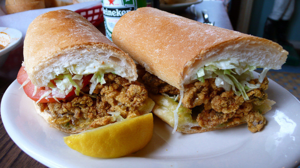 Fried Oyster Po' boy sandwich (Photo by Flickr user buck82 via Creative Commons license)