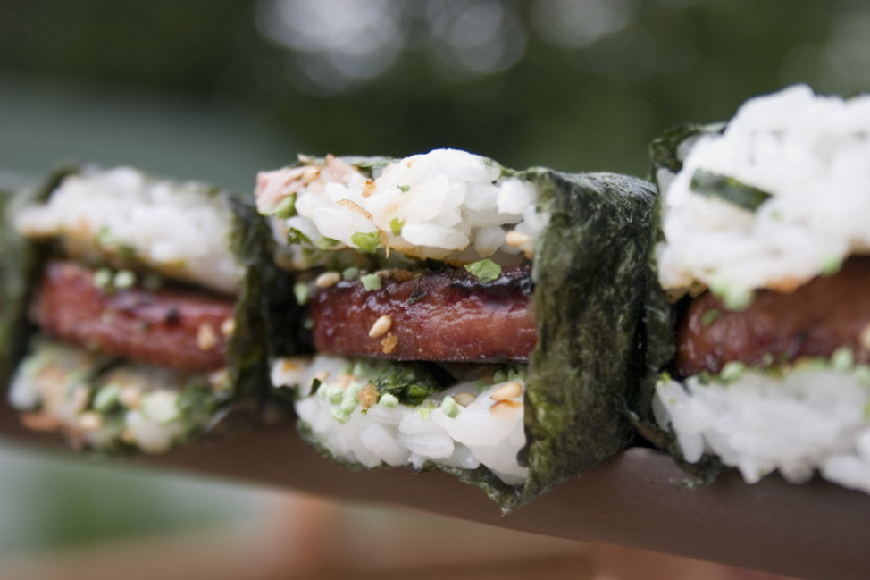 Spam Musubi (Photo by Flickr user BDT via Creative Commons license)