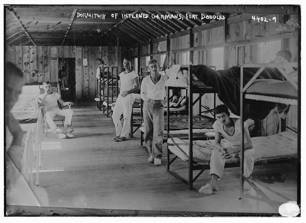 Dormitory for interned Germans at Fort Douglas, Utah. (Library of Congress)