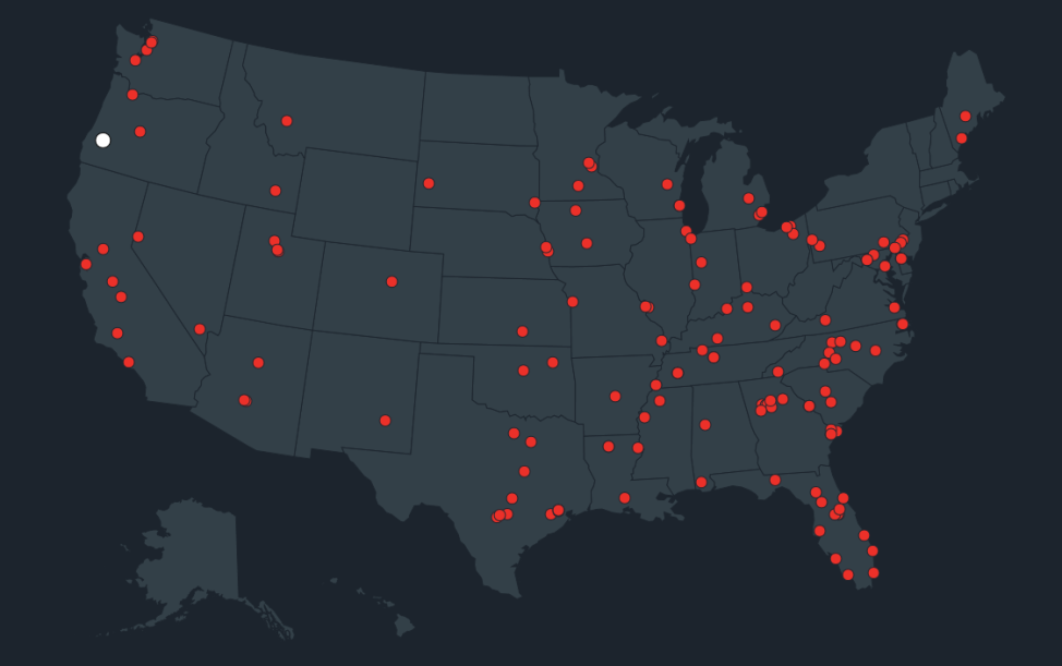 Map from Everytown for Gun Safety