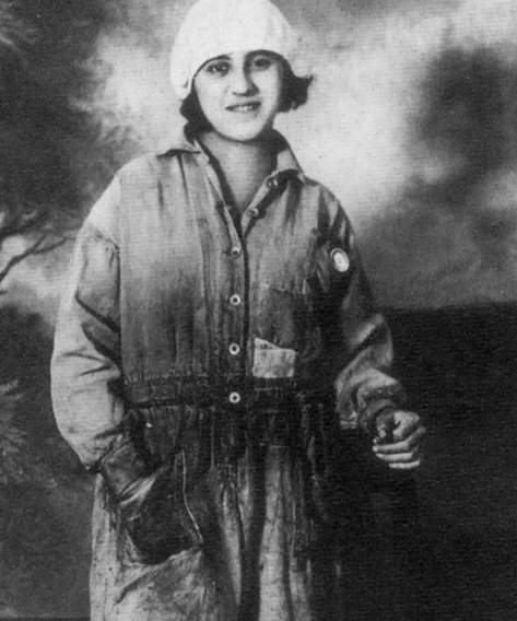 "Eva Hetty, a Lebanese immigrant and Detroit factory worker, in 1929. (Image from ""Arab Americans in Metro Detroit: A Pictorial History"")"