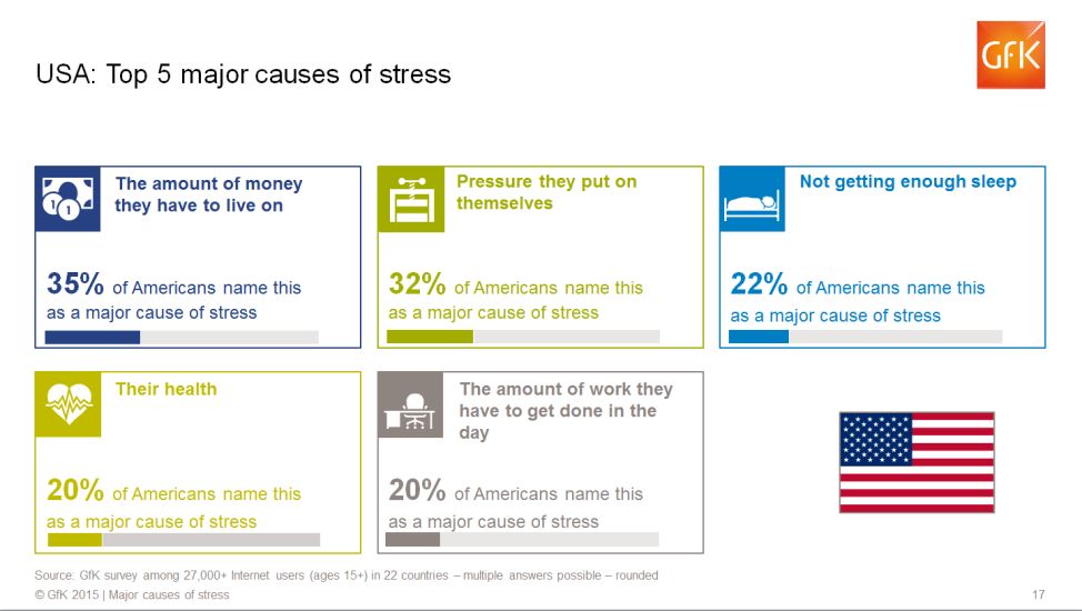USA - Top 5 Causes of Stress