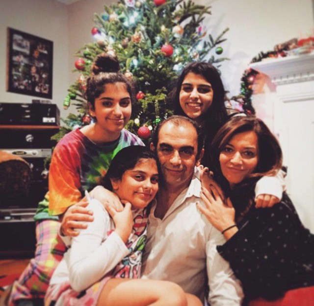 American Muslim Dr. Zina Alathari celebrating Christmas with her family.