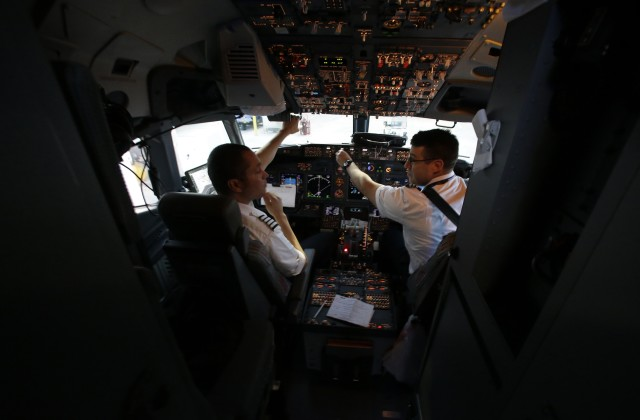 Commercial pilots' wage difference, the gap between the highest and the lowest earners, was more than $100,000. (AP Photo)