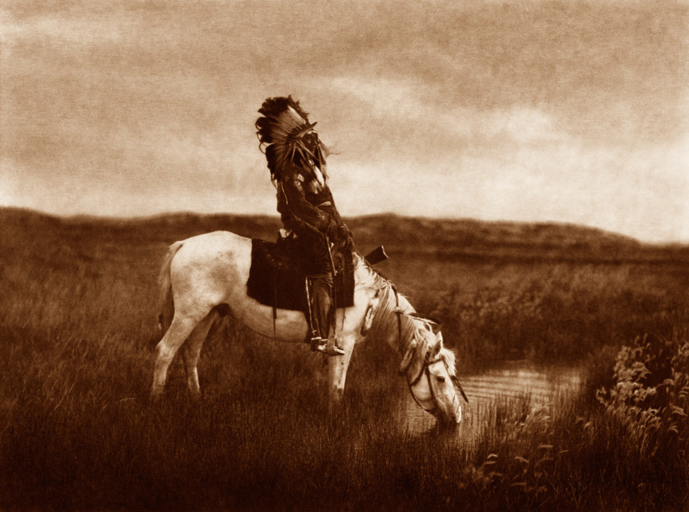 An Oasis in the Badlands, Great Plains, 1905 (Photo by Edward S. Curtis, courtesy DelMonico Books • Prestel)