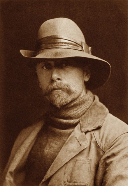 Self-Portrait of Edward S. Curtis, 1899 (Public Domain)
