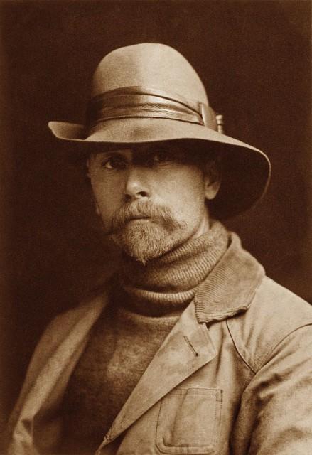 Self-Portrait of Edward S. Curtis, 1899 (Public Domain)
