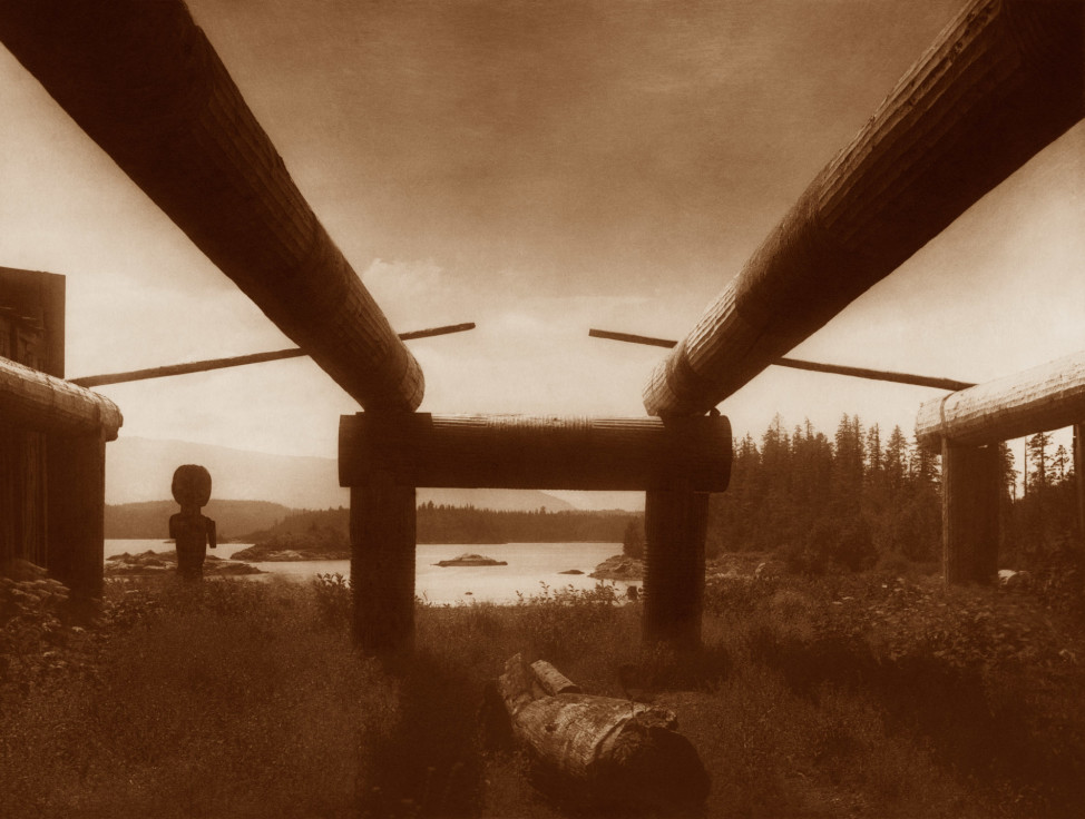 Kwakiutl House Frame, 1914, Northwest (Photo by Edward S. Curtis, courtesy DelMonico Books • Prestel)