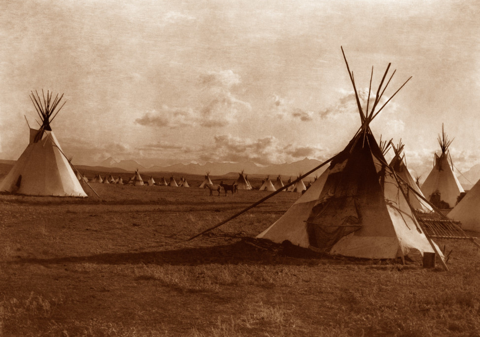 Piegan Encampment, 1900, Great Plains (Photo by Edward S. Curtis, courtesy DelMonico Books • Prestel)