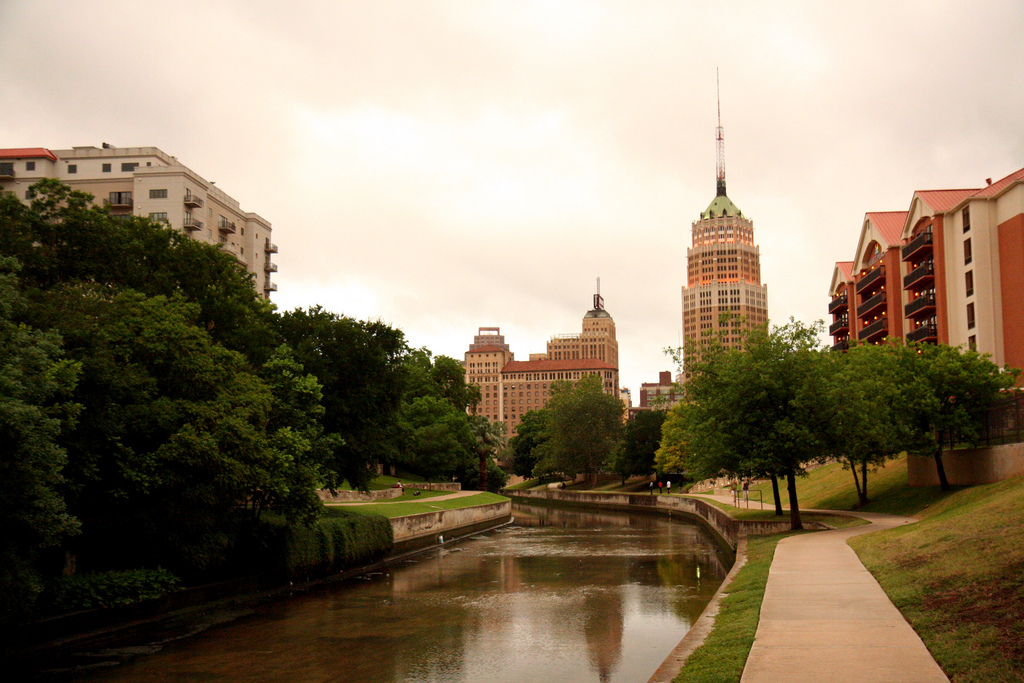 A view of the San Antonio River near the historic King William district. (Photo by Flickr user 1sock via Creative Commons license)