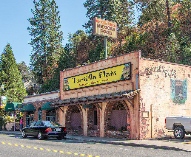 A Mexican restaurant in Placerville, California. (Photo by Flickr user Kent Kanouse via Creative Commons license)