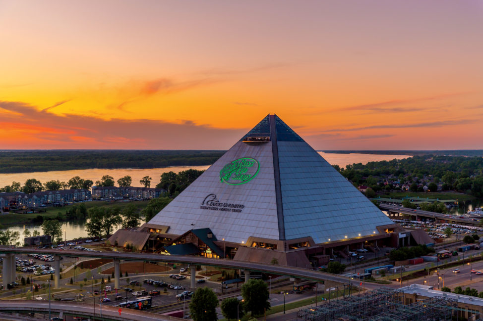 Bass Pro Shops has drawn roughly 3 million visitors to its Pyramid complex of restaurants, retail stores, 'cypress swamp' and other attractions, in Memphis, Tennessee. (Courtesy photo)