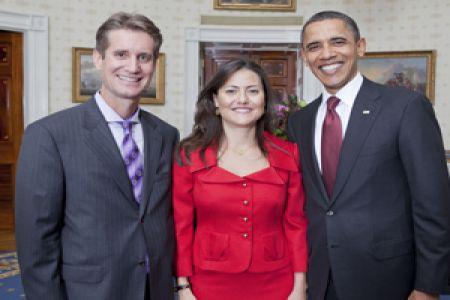 Zeyno Baran və həyat yoldaşı Metyu Brayza ABŞ prezidenti Barak Obama ilə