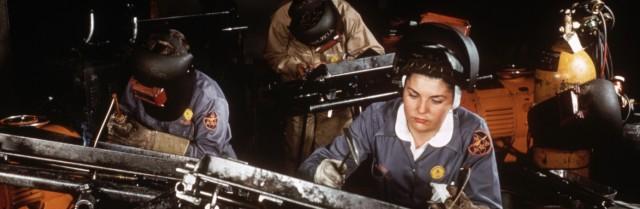 İkinci Dünya müharibəsi dövrü hərbi sənayedə çalışan amerikalı qadınlar
