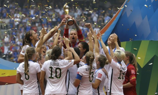 ABŞ-ın futbol üzrə qadınlardan ibarət milli yığması dünya kubokunu qazanıb