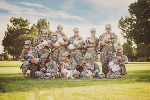 Tara-Ruby-Soldiers-in-Uniform-Breastfeeding