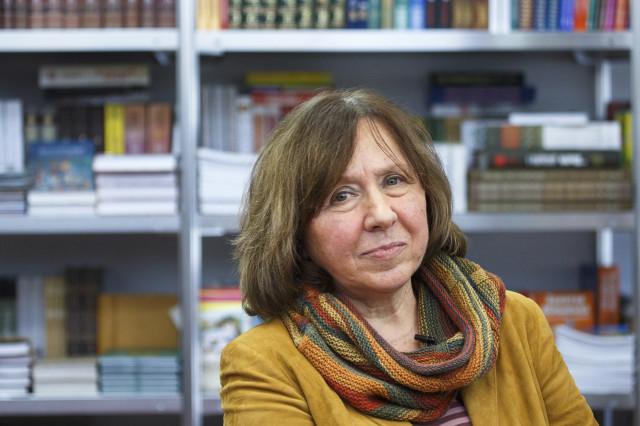 2015-ci il ədəbiyyat sahəsində Nobel mükafatı laureatı, Belorus yazıçısı Svetlana Alekseyeviç