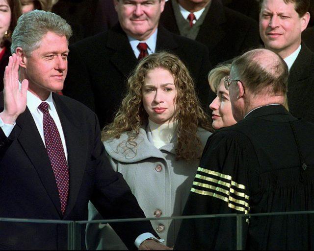Çelsi Klinton Bill Klintonun unaqurasiyasında