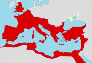 96-cı ildə Roma İmperiyasının hüdudları