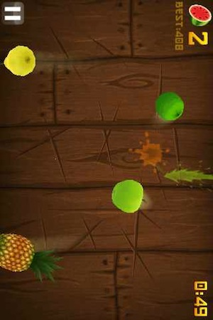 Fruit Ninja is one of the more popular game apps in China.
